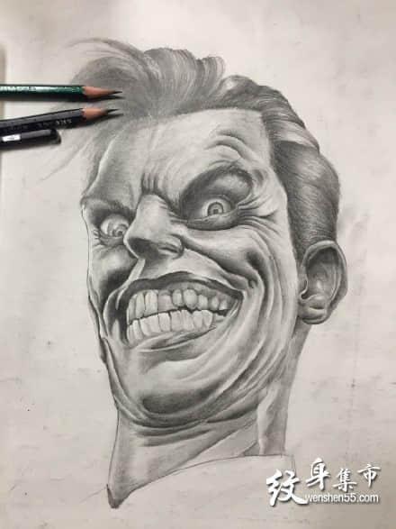 小丑纹身手稿