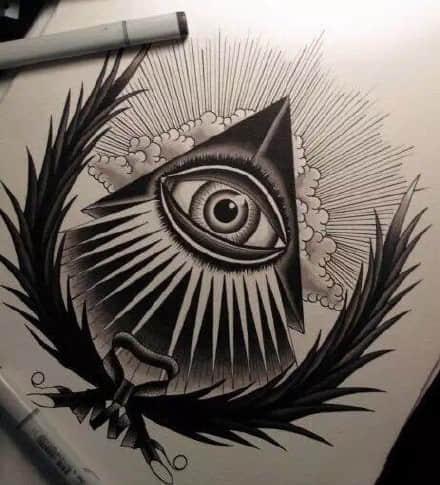 上帝之眼纹身手稿