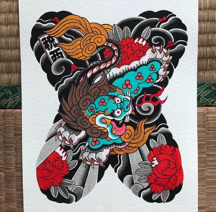 日式传统大满背