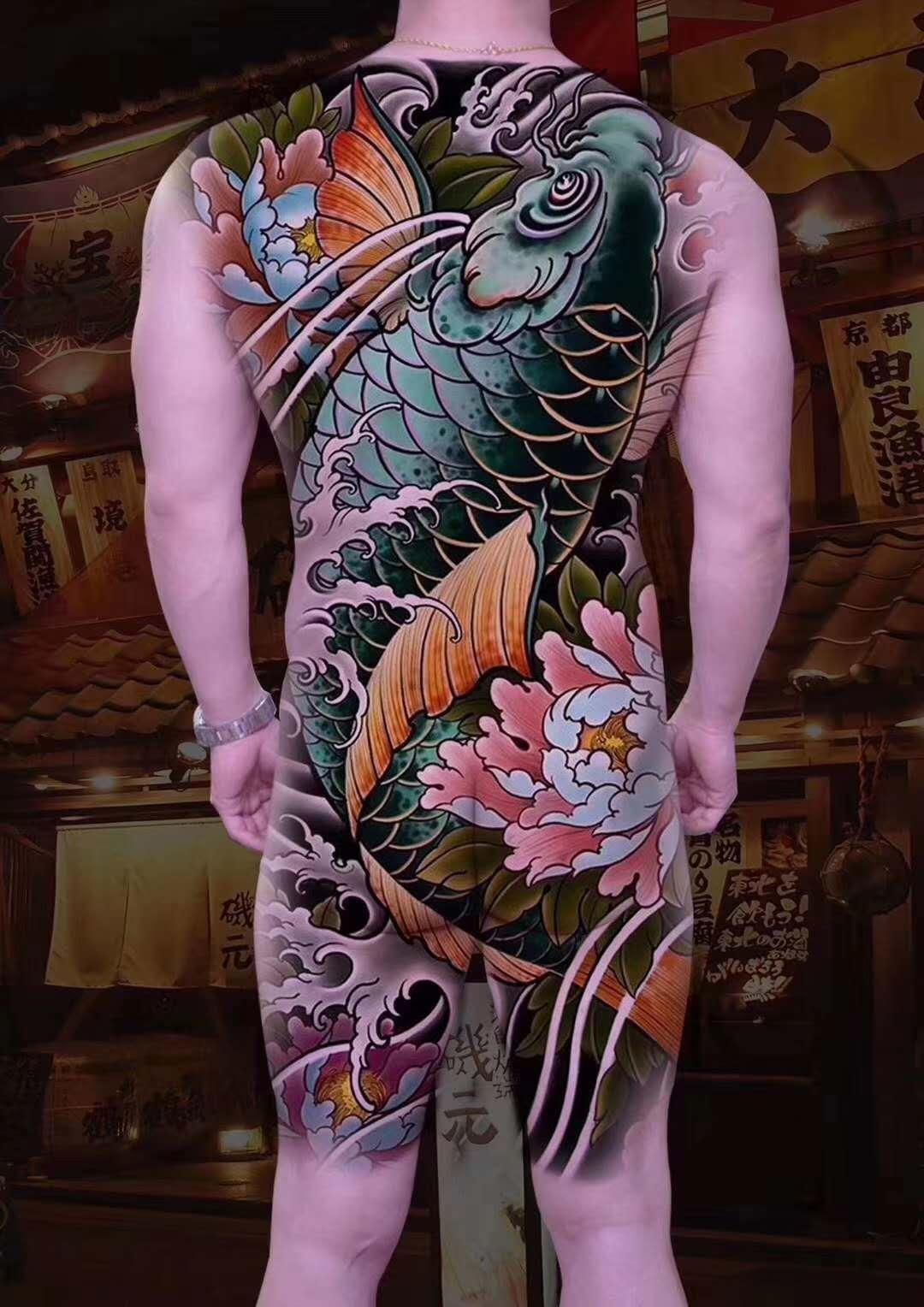 满背纹身手稿