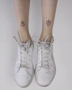 树叶纹身,树叶纹身手稿图案