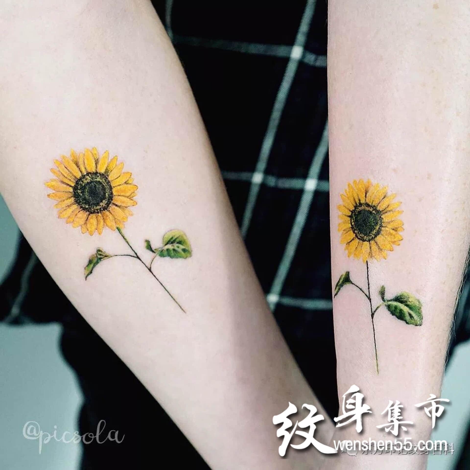 小臂花纹身素材,花纹身手稿,小清新纹身图案