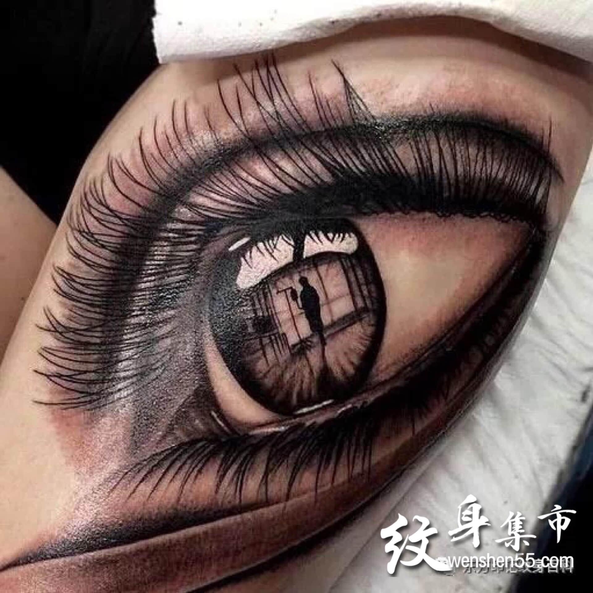 眼睛纹身,写实眼睛纹身手稿,眼睛纹身图案大全