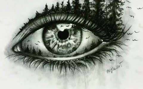 眼睛纹身手稿
