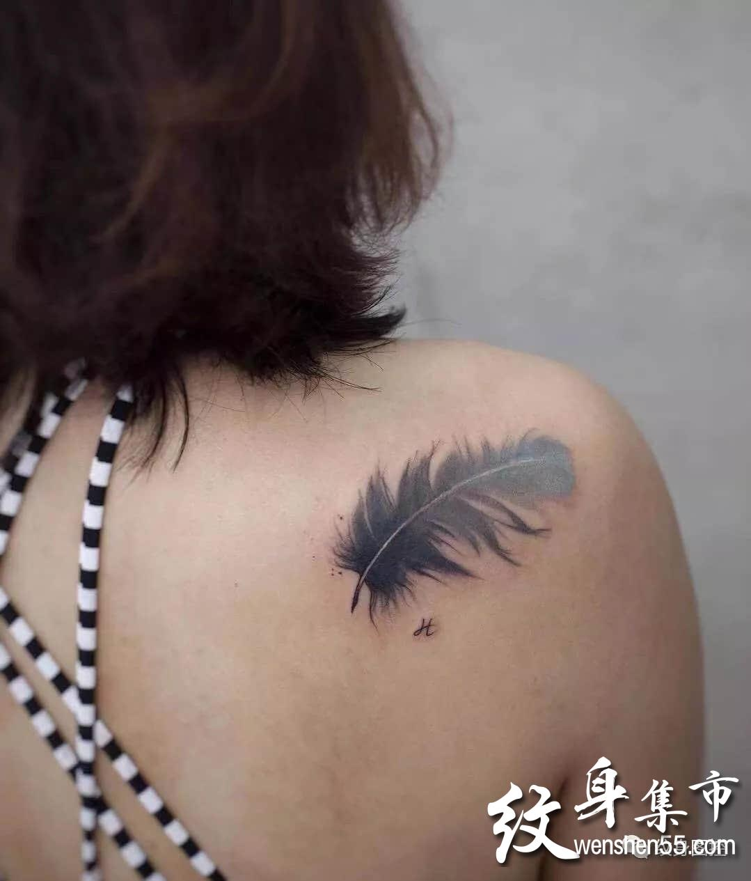 水墨纹身,水墨纹身手稿,适合女神的素材