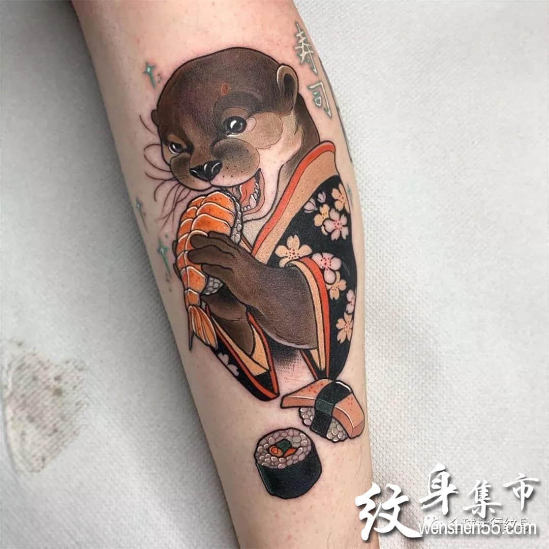适合手臂、腿部花虫鸟兽纹身图案素材