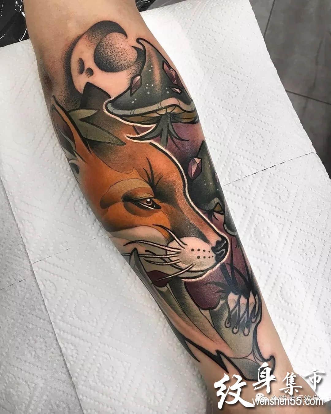 狐狸纹身,狐狸纹身图案