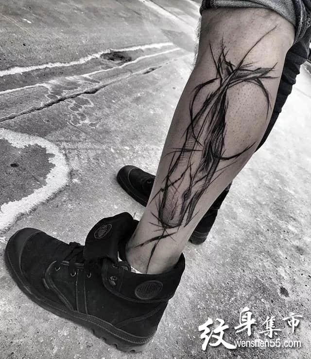 抽象纹身,抽象纹身手稿图案