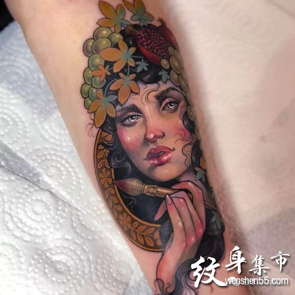 欧美女郎纹身,欧美女郎纹身手稿素材