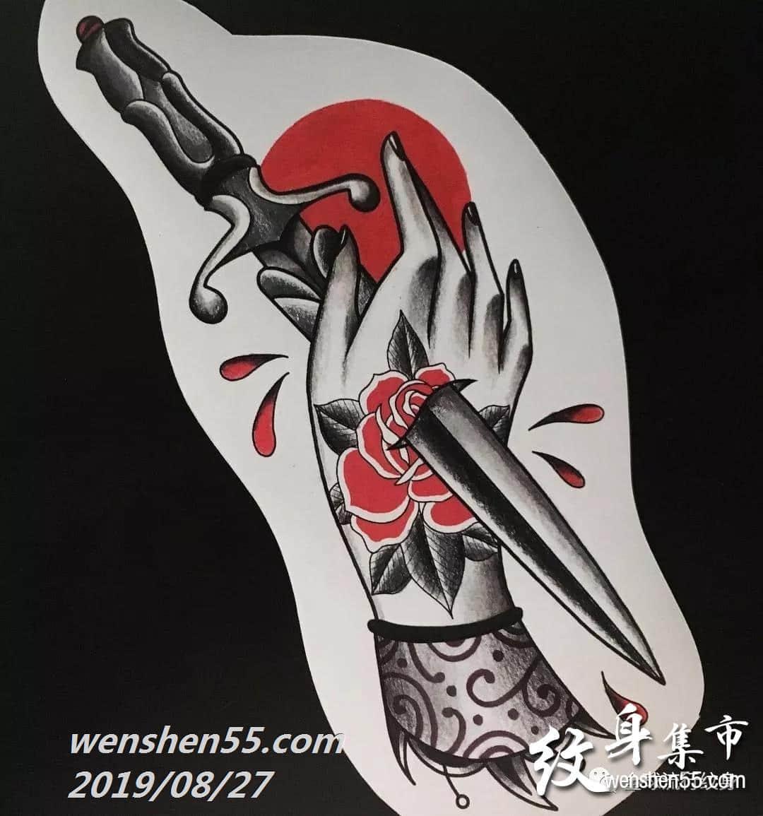 欧美肖像纹身,欧美纹身手稿图片
