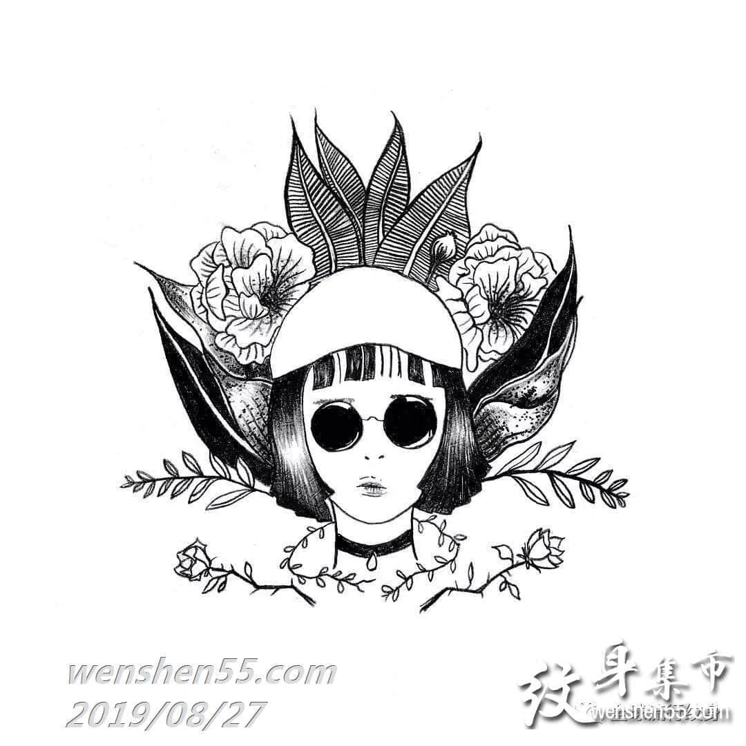 个性卡通纹身手稿,卡通纹身手稿图案