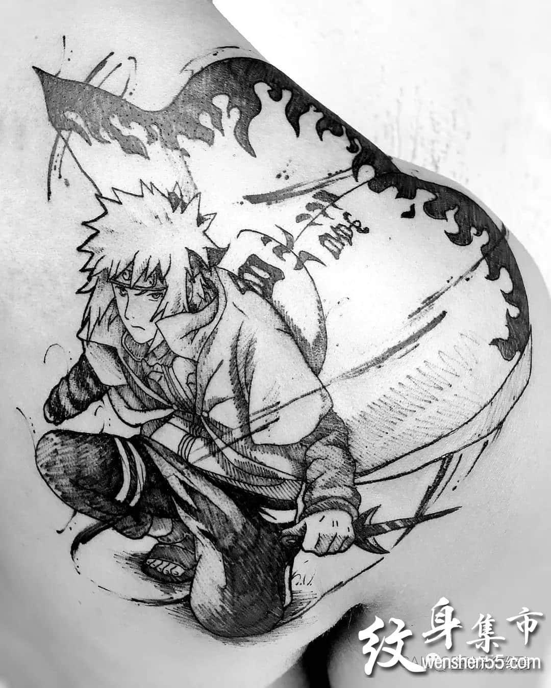潦草动漫纹身,动漫纹身手稿图案
