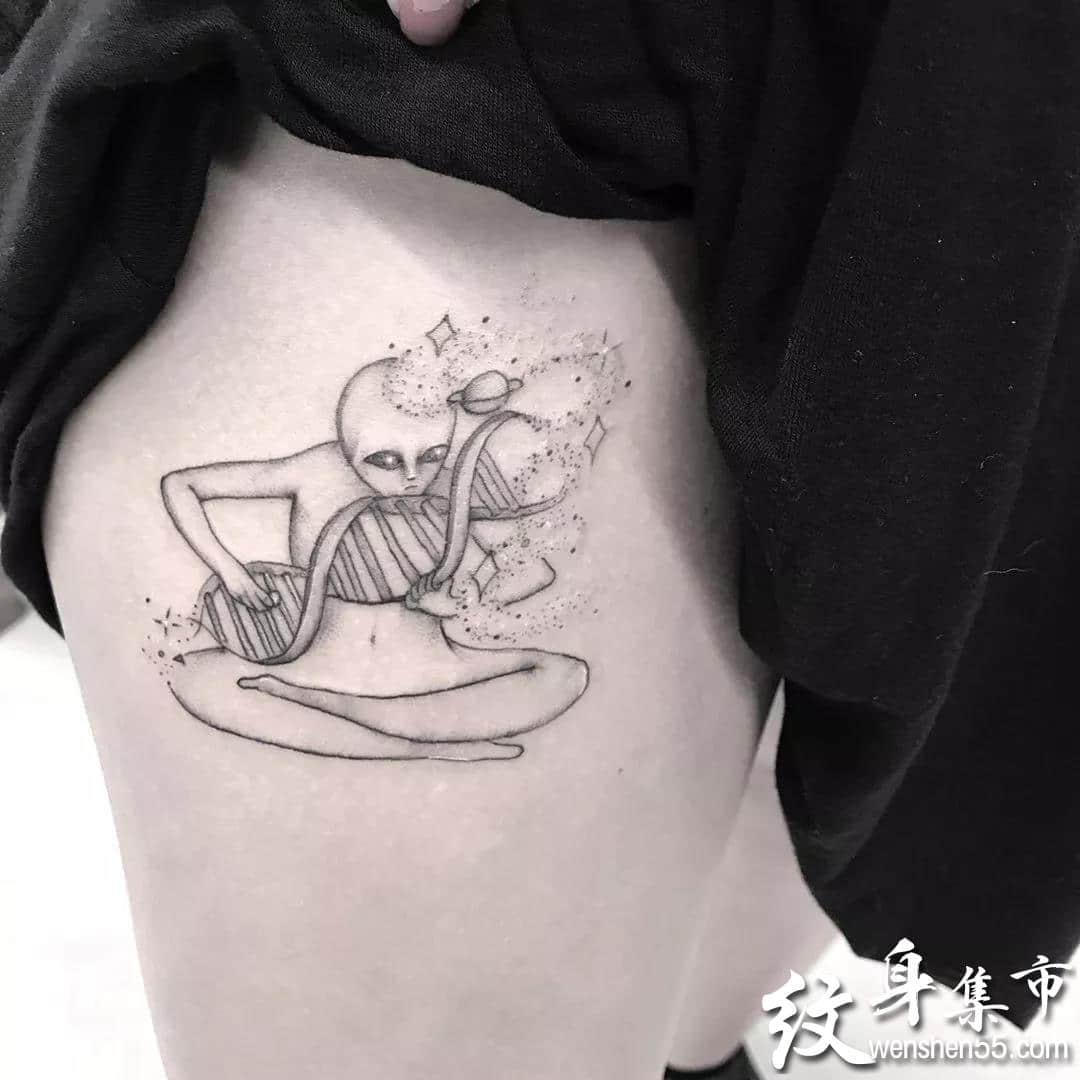 DNA纹身,DNA纹身手稿,DNA纹身手稿图案