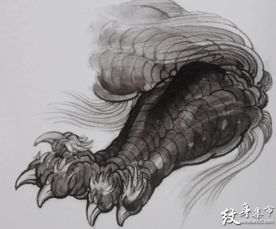 唐狮纹身,唐狮纹身手稿,唐狮纹身手稿图案