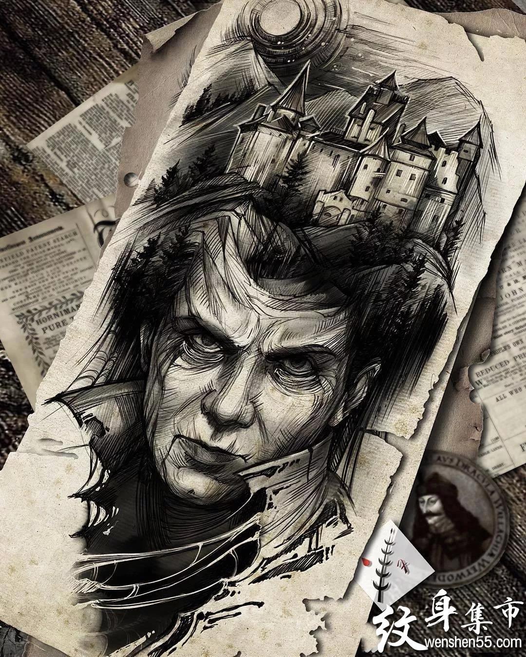 暗黑纹身,暗黑纹身手稿,暗黑纹身手稿图案