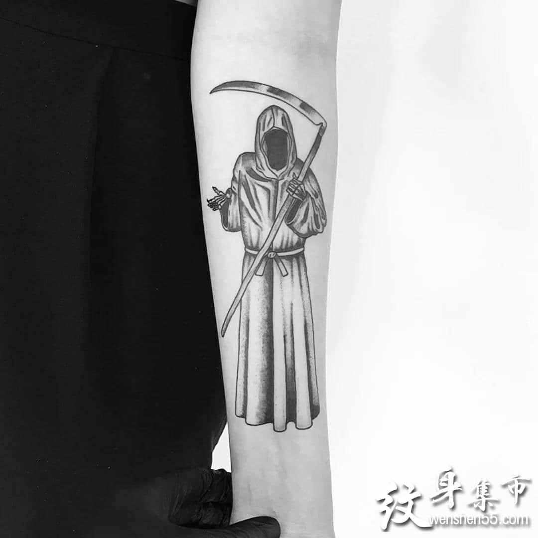 死神纹身,死神纹身手稿,死神纹身手稿图案