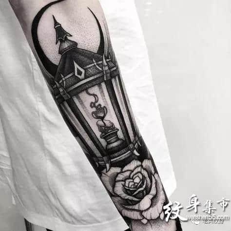 蜡烛纹身,蜡烛纹身手稿,蜡烛纹身手稿图案