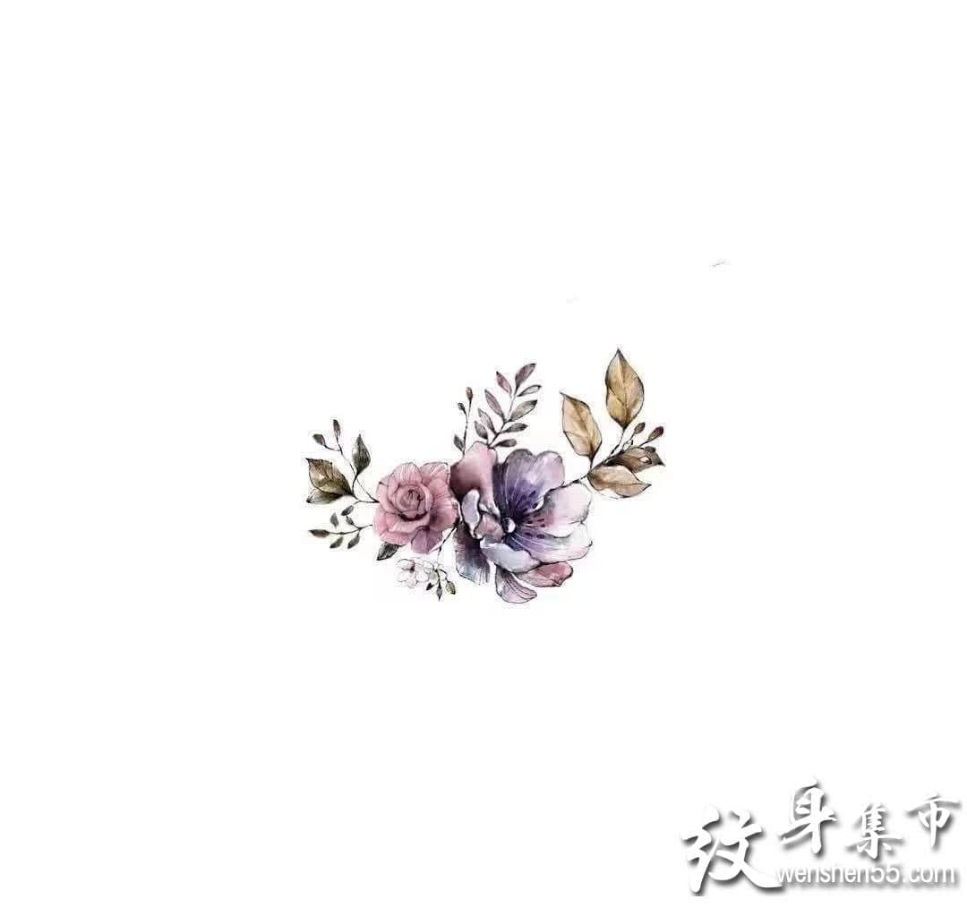 花纹身,花纹身手稿,花纹身手稿图案