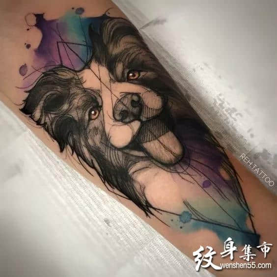 汪星人纹身,汪星人纹身手稿,汪星人纹身手稿图案