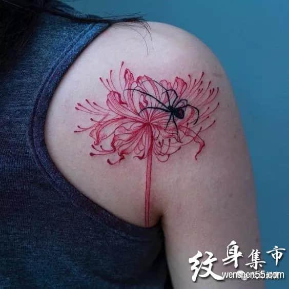彼岸花纹身,彼岸花纹身图案大全