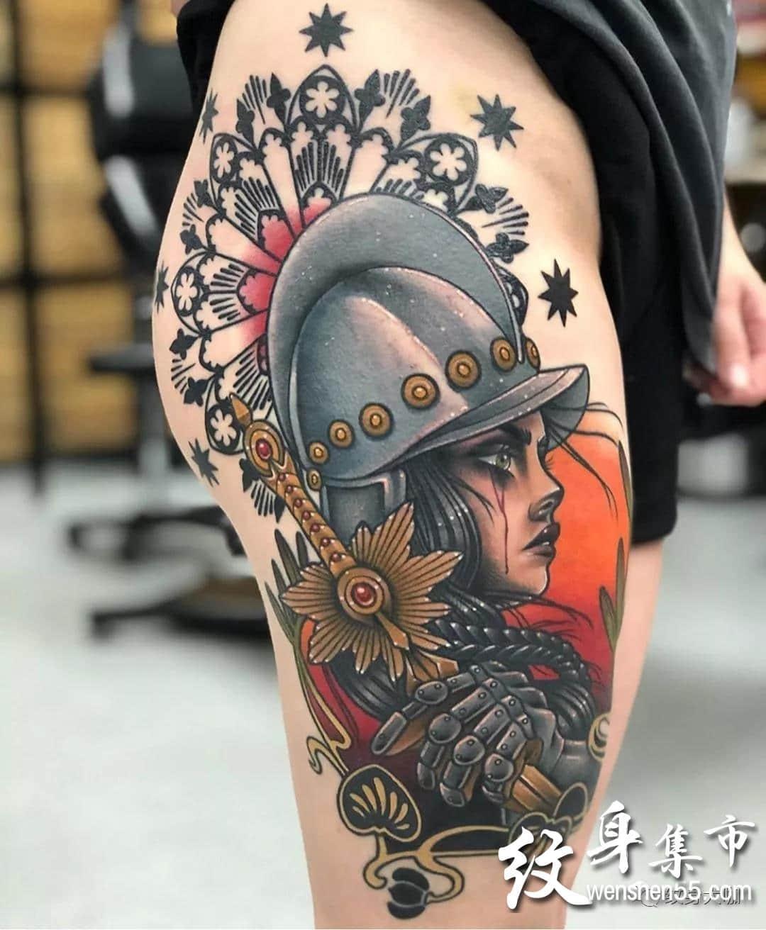 武士纹身,武士纹身手稿,武士纹身手稿图案