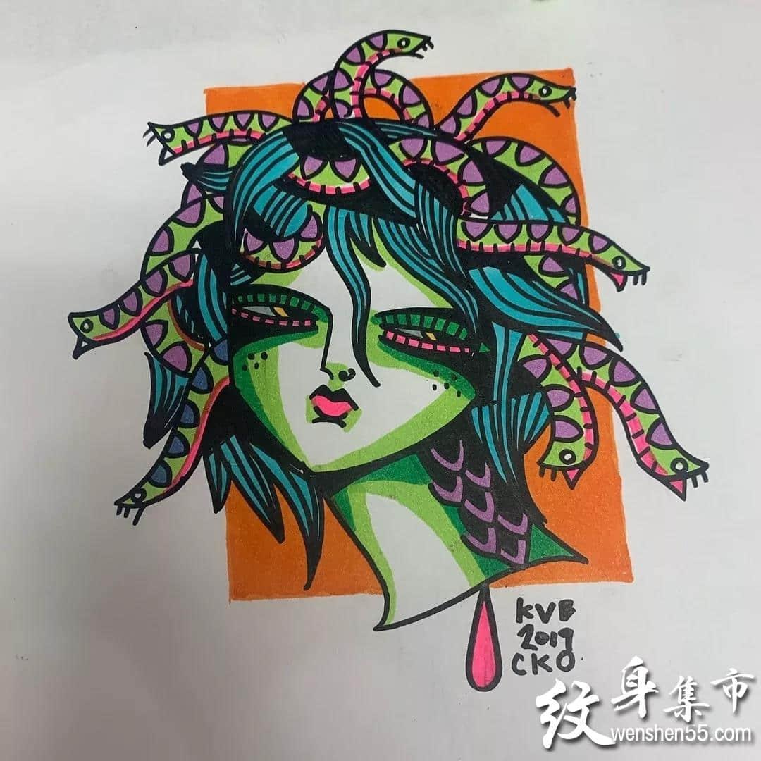 Newschool纹身,Newschool纹身手稿,Newschool纹身手稿图案