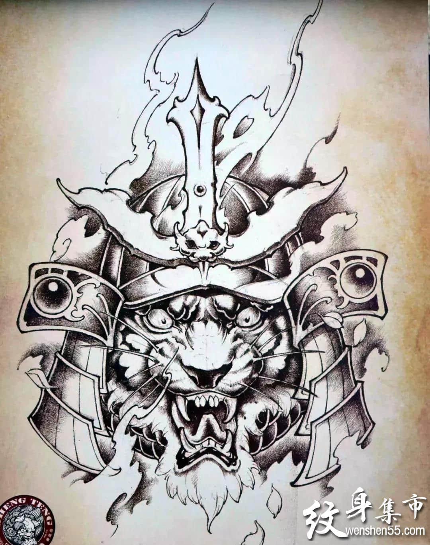 老虎纹身,老虎纹身手稿,老虎纹身手稿图案