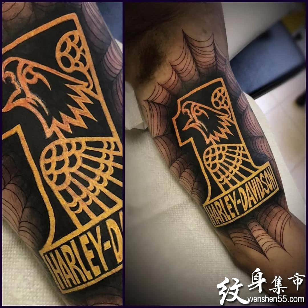重彩金属线条纹身,重彩金属线条纹身手稿图案
