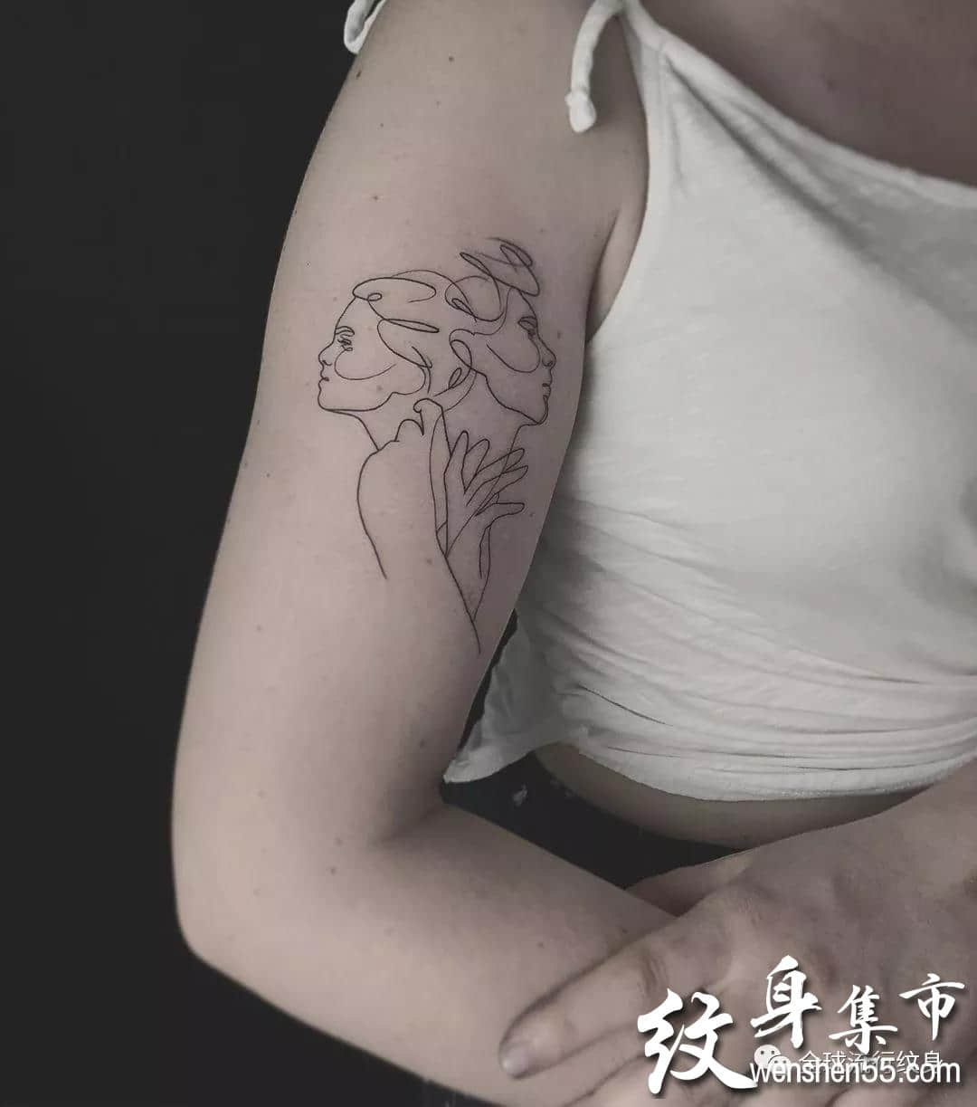 简约线条纹身,简约线条纹身手稿,简约线条纹身手稿图案