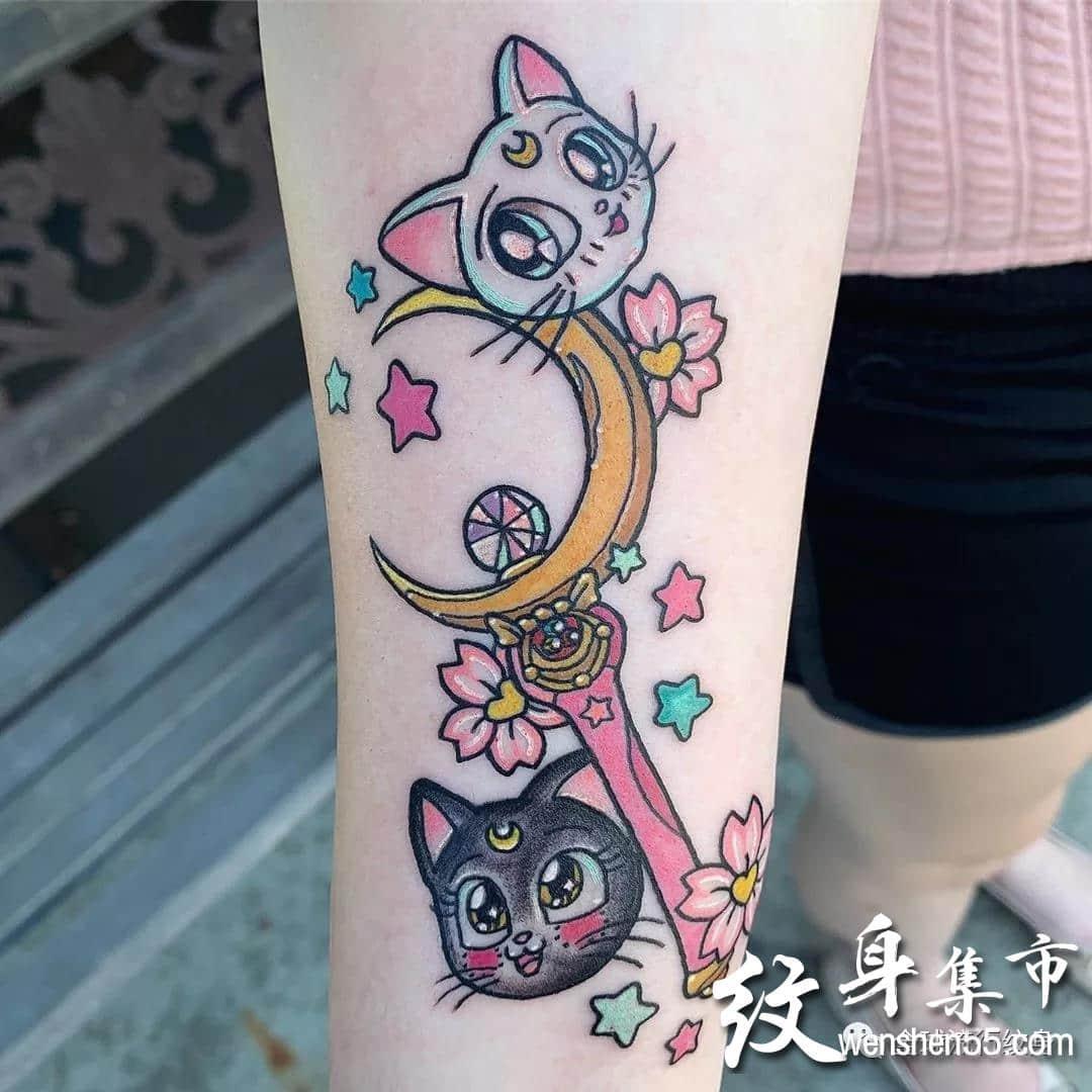 美少女战士纹身,美少女战士纹身手稿图案大全