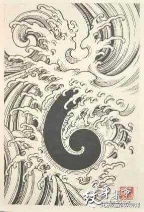 浪花纹身,浪花花臂纹身素材手稿,浪花纹身手稿