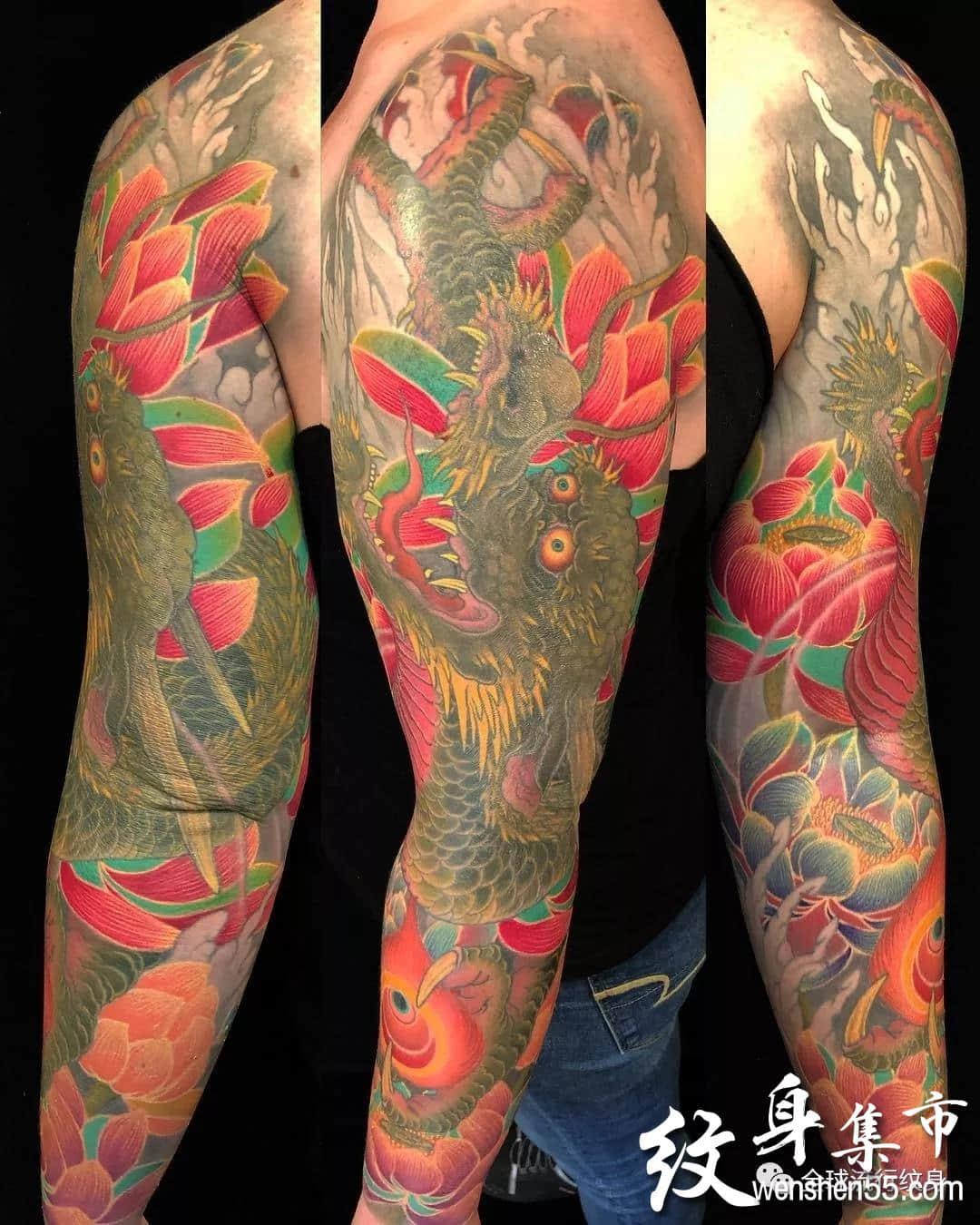 日本纹身大师黄炎纹身作品欣赏,纹身艺术家连载