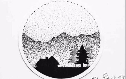 圆形点刺纹身,圆形点刺纹身手稿,圆形点刺纹身手稿图案