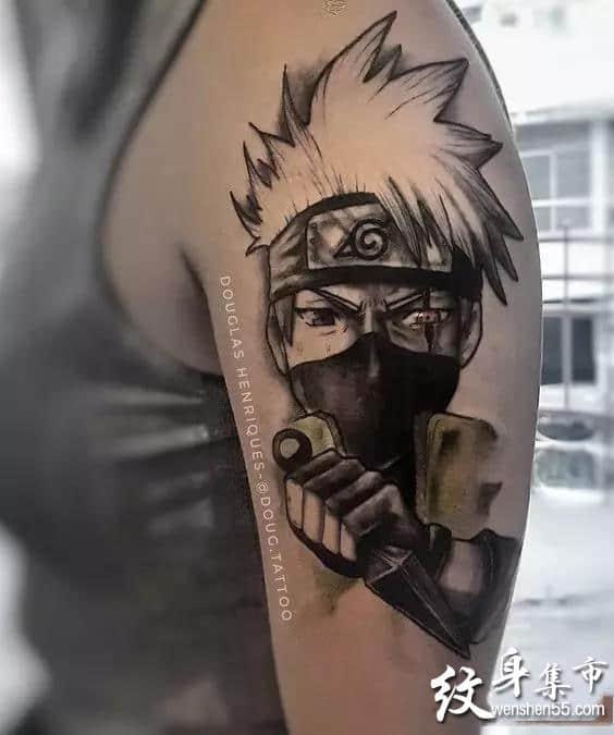 动漫火影忍者纹身,动漫火影忍者纹身手稿,动漫火影忍者纹身手稿图案