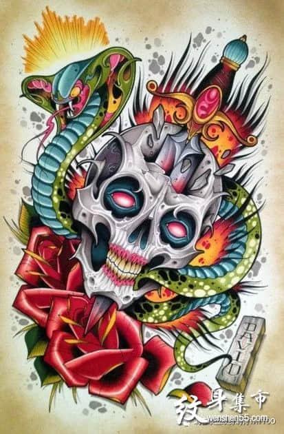 匕首纹身,匕首纹身手稿,匕首纹身手稿图案