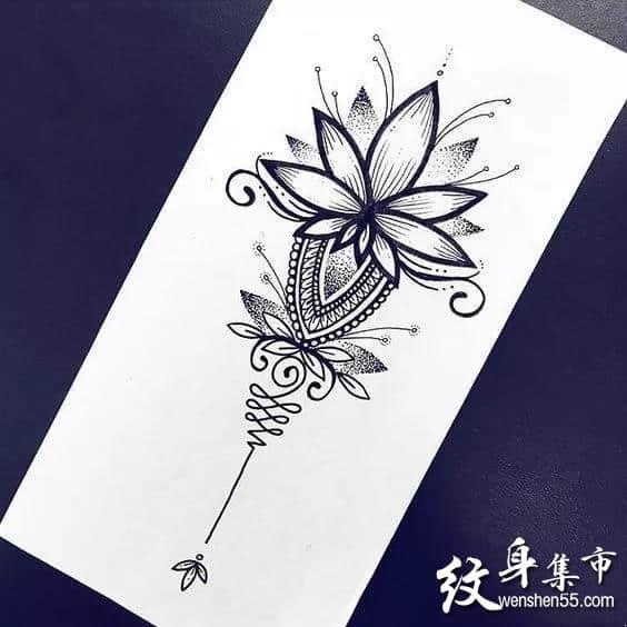 梵花纹身,梵花纹身手稿,梵花纹身手稿图案