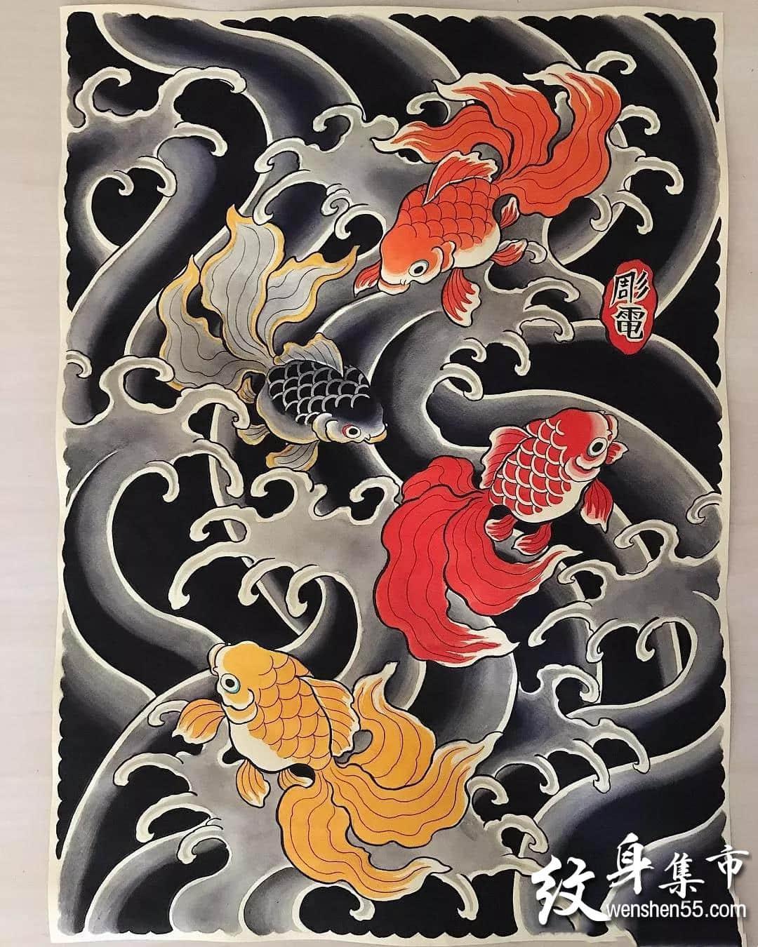 日式满背纹身,日式满背纹身手稿,日式满背纹身手稿图案