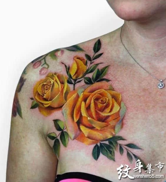 玫瑰纹身,玫瑰纹身手稿,玫瑰纹身手稿图案