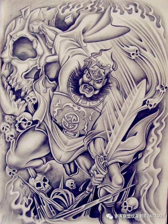 钟馗纹身,钟馗纹身手稿,钟馗纹身手稿图案