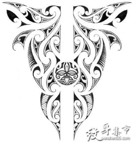 玛雅图腾纹身,玛雅图腾纹身手稿,玛雅图腾纹身手稿图案