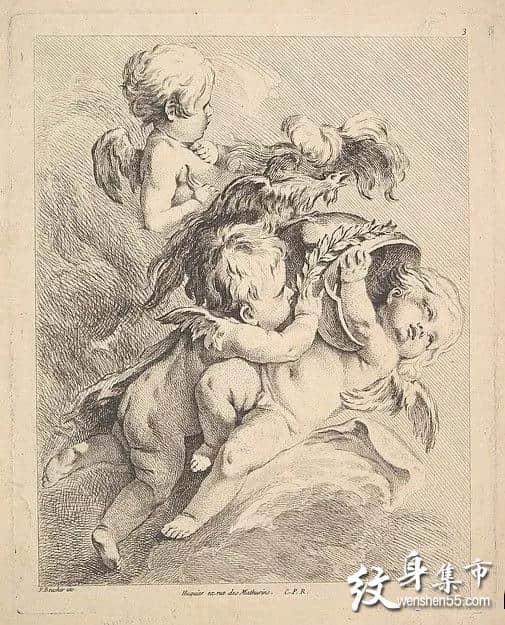 天使宝贝纹身,天使宝贝纹身手稿,天使宝贝纹身手稿图案
