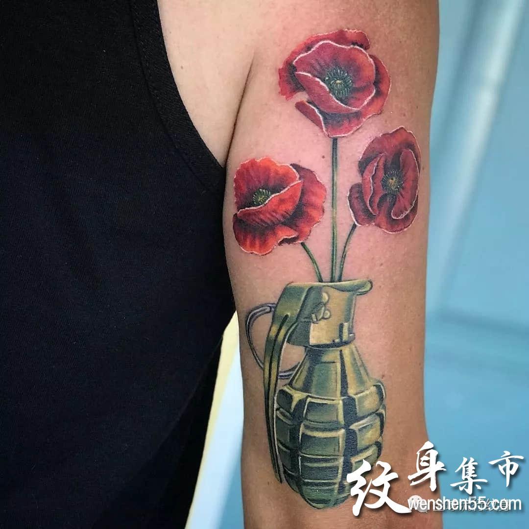 手榴弹纹身,手榴弹纹身手稿,手榴弹纹身手稿图案大全