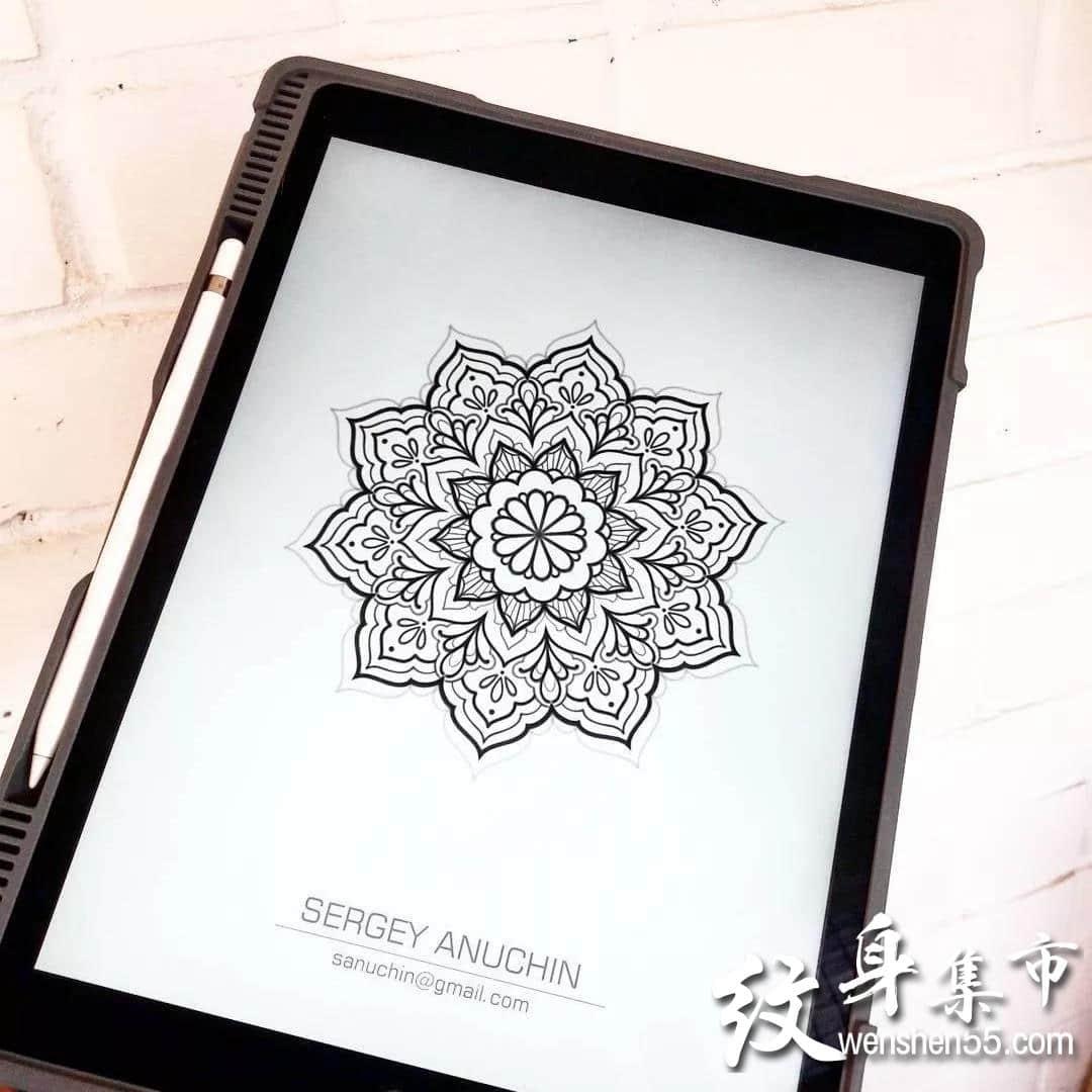梵花纹身,梵花纹身手稿,梵花纹身手稿图案大全
