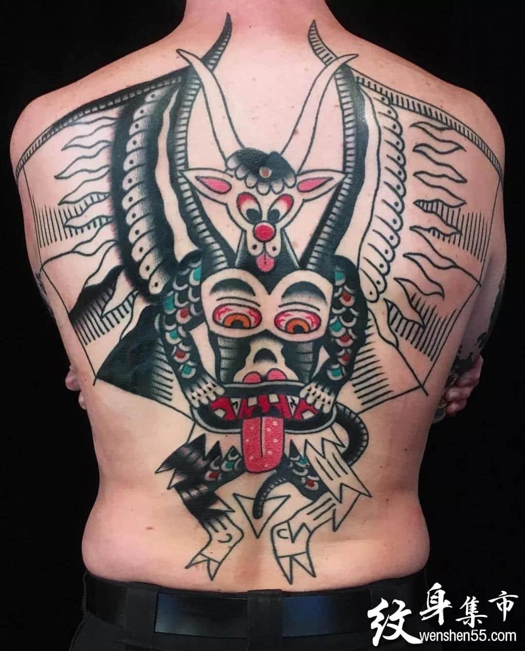 满背纹身,满背纹身手稿,满背纹身手稿图案