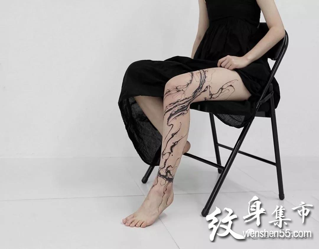 泼墨纹身,泼墨纹身手稿,泼墨纹身手稿图案