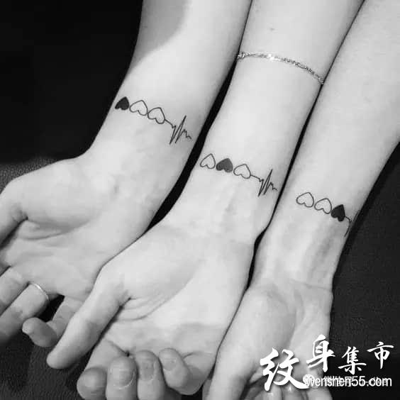 情侣纹身,友谊纹身,情侣友谊手稿图案大全