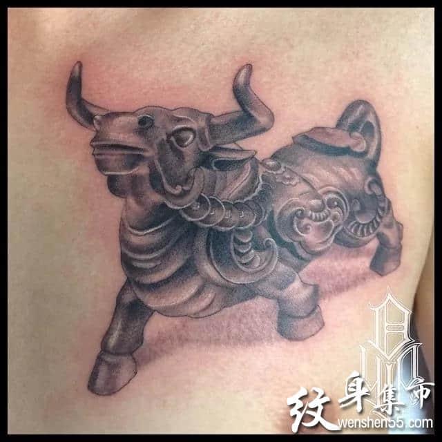 牛头纹身,牛头纹身手稿,牛头纹身手稿图案大全