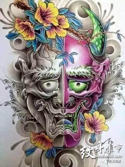 般若纹身,般若纹身手稿,般若纹身手稿图案大全