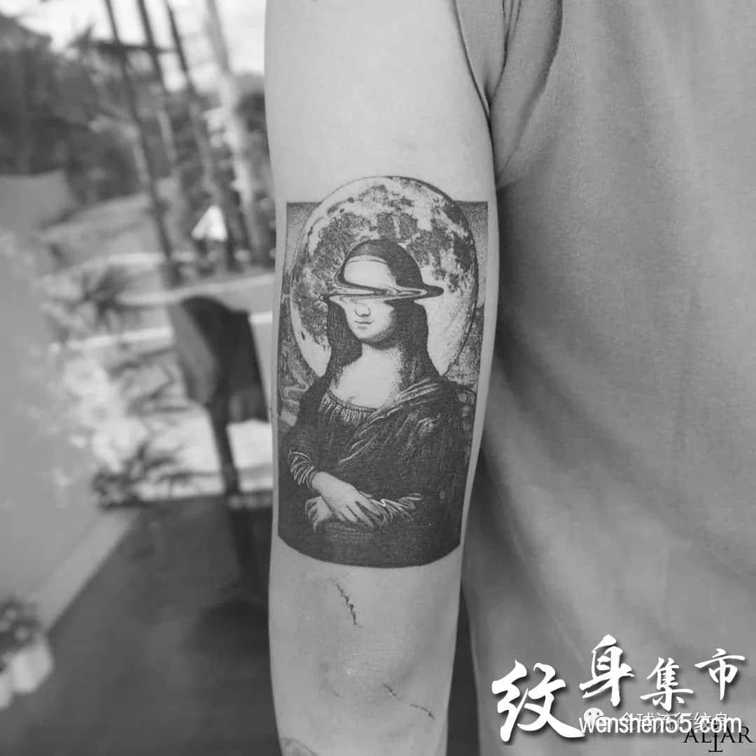 蒙拉丽莎纹身,蒙拉丽莎纹身手稿,蒙拉丽莎纹身手稿图案