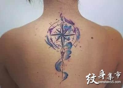 指南针纹身,指南针纹身手稿,指南针纹身手稿图案